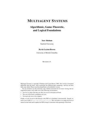 Multiagent systems by Yoav Shoham